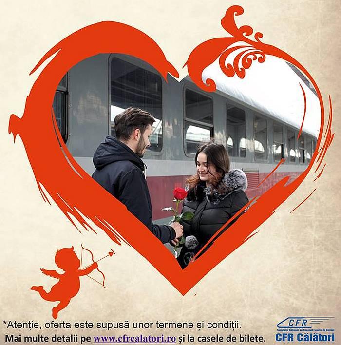 CFR Calatori Reduceri de Valentine's Day şi Dragobete