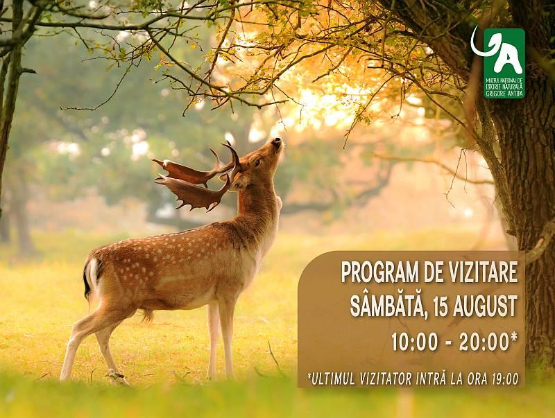 """Programul """"Grigore Antipa"""" în data de 15 august 2020"""