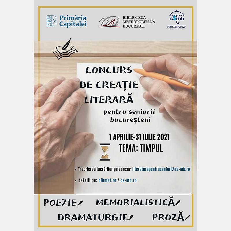 Afiș Concurs de creație literară