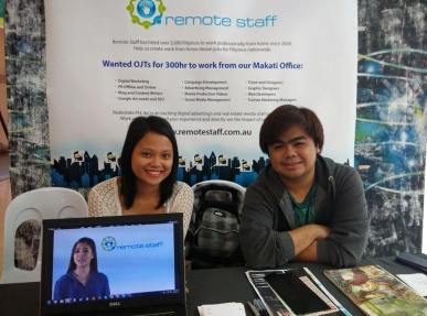 "Australian BPO company Remote Staff Philippines hires up to 50 Filipino home-based professionals monthly. The company has expanded to contracting a variety of professionals such as web developers, web and graphic designers, virtual assistants, and other computer/phone-based job roles. Remote Staff connects them with international clients based in Australia, the UK and the US. The company, accredited by the government under the name Remote Staff Inc. started in 2007. Since then it has been hiring people across the Philippines. Whether job hunters live in urban or rural areas, so long as they meet the minimum Internet speed requirement (at least 1 MBPS), speak very good English and can commit to building a long-term career working with their clients, they may be hired. ""If you work a day, you will be paid a day, monthly, on time and in your own local currency. We even offer lifetime re-hiring security. That's why we have a dedicated in-house team of over 30, ready to help you start and maintain your home-based career. If you are considering becoming a Remote Staff contractor, we have 3 proven methods to get you hired: Online available staffing lists – your permanent online presence allows prospective clients to view and access your profile anytime. Custom recruitment service – we personally recommend your resume by matching, showcasing and endorsing your portfolios to our clients. Recruitment specialist's exclusive representation – we assign a recruitment specialist to personally contact employers in the marketplace for you. Once you're hired, our role continues by ensuring you have a professional home-based working environment, and monitoring your progress everyday. Join the hundreds of professionals enjoying the freedom, security, stability, and happiness of being part of the Remote Staff family. To get started, register as a Jobseeker."" Address: 27th floor, Trafalgar Plaza, 105 H.V. De La Costa Street, Salcedo Village, 1227 Makati City, Philippines Phone: +6328464249 Email recruitment@remotestaff.com.au Website: http://www.remotestaff.com.ph/""If you work a day, you will be paid a day, monthly, on time and in your own local currency. We even offer lifetime re-hiring security. That's why we have a dedicated in-house team of over 30, ready to help you start and maintain your home-based career. If you are considering becoming a Remote Staff contractor, we have 3 proven methods to get you hired: Online available staffing lists – your permanent online presence allows prospective clients to view and access your profile anytime. Custom recruitment service – we personally recommend your resume by matching, showcasing and endorsing your portfolios to our clients. Recruitment specialist's exclusive representation – we assign a recruitment specialist to personally contact employers in the marketplace for you. Once you're hired, our role continues by ensuring you have a professional home-based working environment, and monitoring your progress everyday. Join the hundreds of professionals enjoying the freedom, security, stability, and happiness of being part of the Remote Staff family. To get started, register as a Jobseeker."" Address: 27th floor, Trafalgar Plaza, 105 H.V. De La Costa Street, Salcedo Village, 1227 Makati City, Philippines Phone: +6328464249 Email recruitment@remotestaff.com.au Website: http://www.remotestaff.com.ph/"