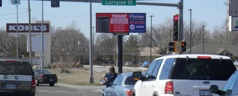 17th & Lorraine (East face) Billboard Hutchinson KS