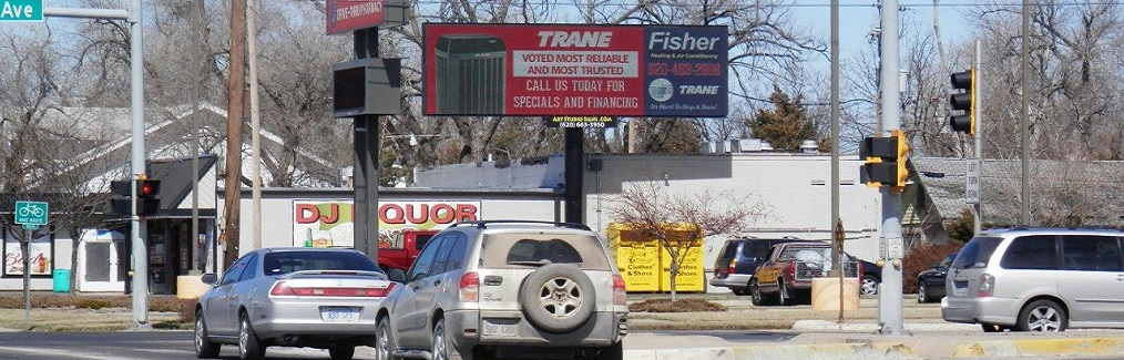 Static Billboard Signage available at 30th & Plum (south face) in Hutchinson, KS