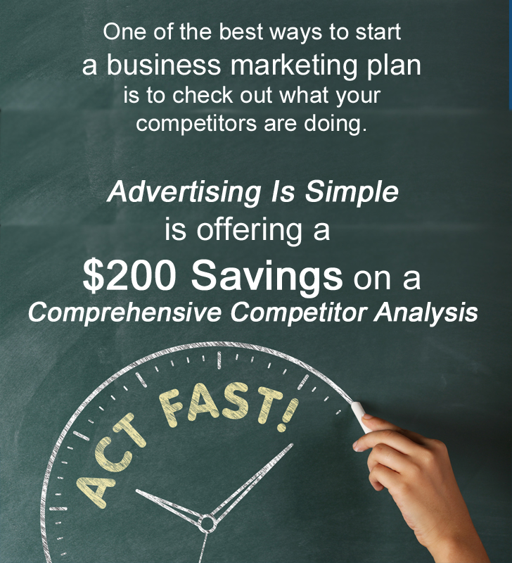 $200 Savings on a Comprehensive Competitor Analysis
