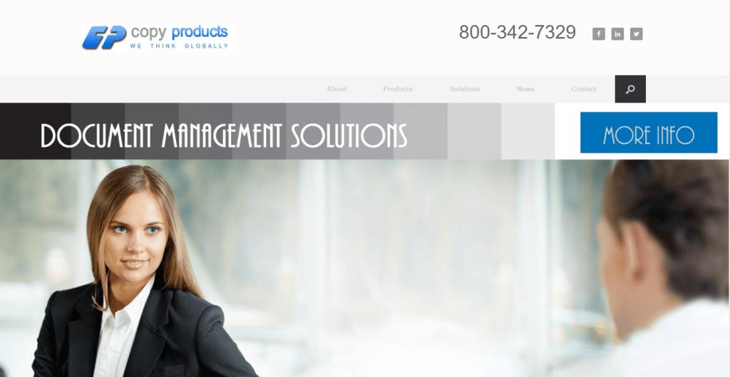 Copy Products Website Design