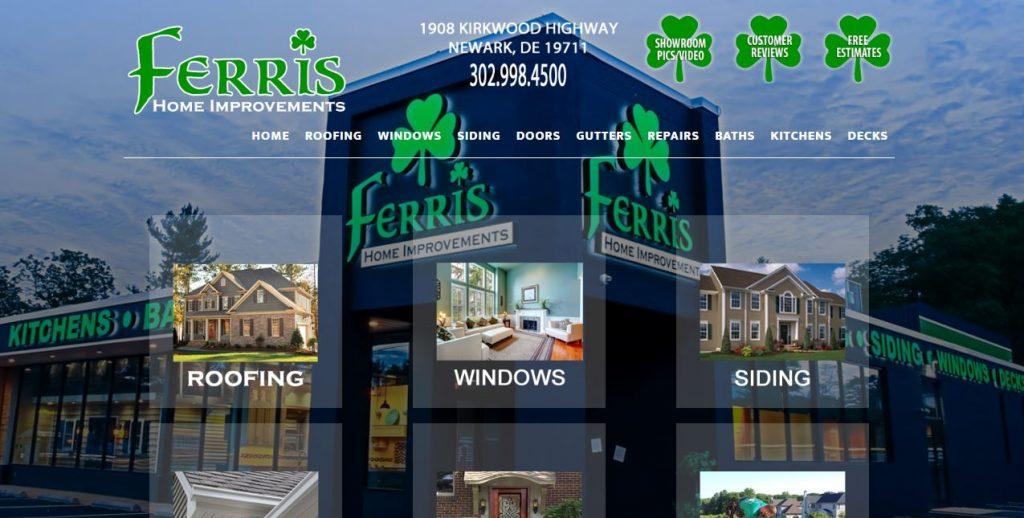 Ferris Home Improvements Website Design Delaware