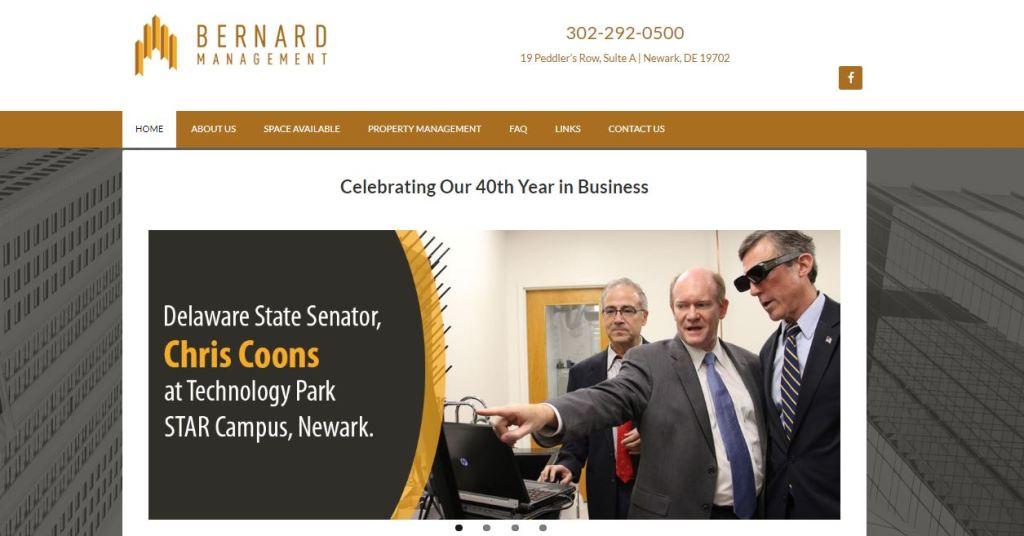 Click Picture above to See Bernard Management Website Design