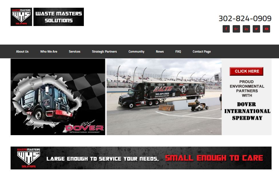 WasteMasters Solutions Website Design