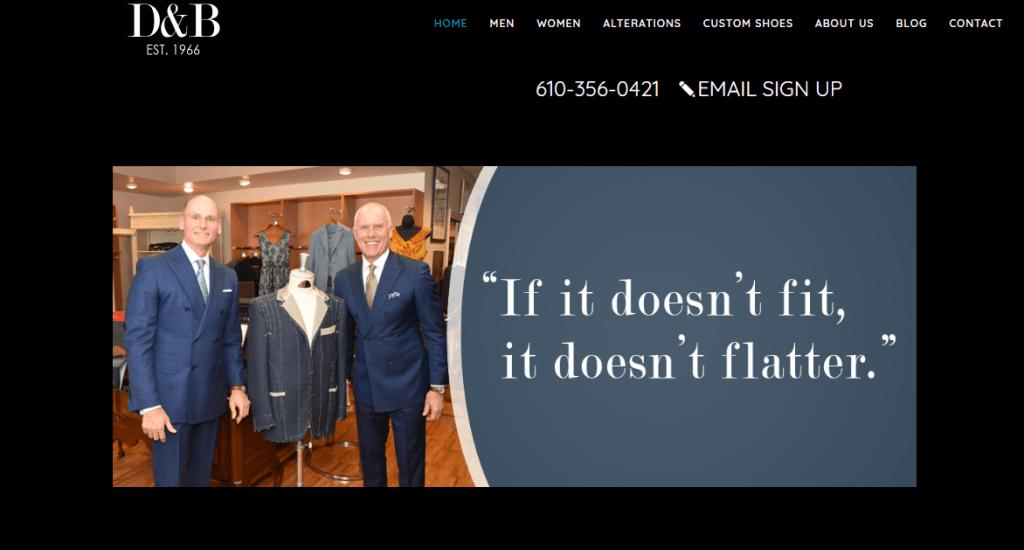 DB Tailors Website Design