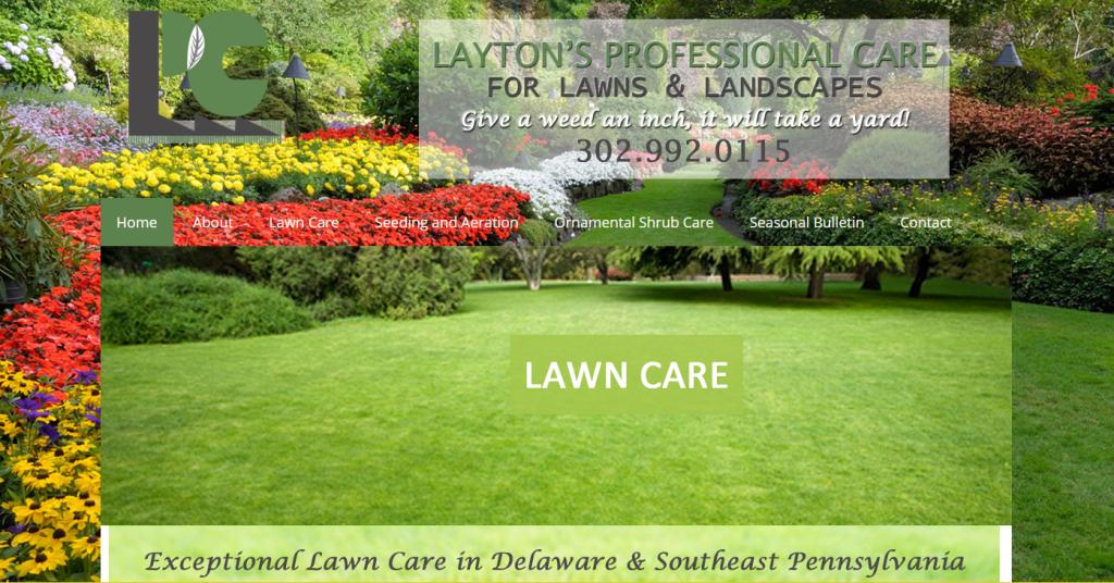 Laytons Lawns Website Design