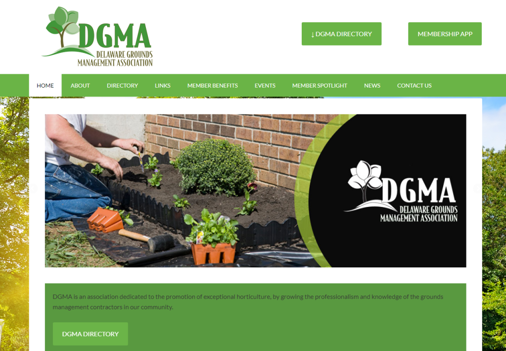 Delaware Ground Maintenance Website Design