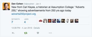 Dan Cohen Tweet 1:4:2016