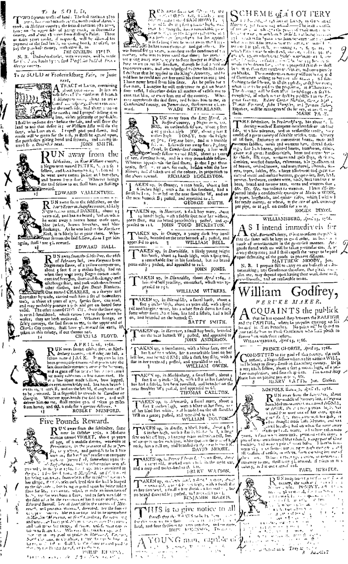 May 2 - 5:2:1766 Virginia Gazette