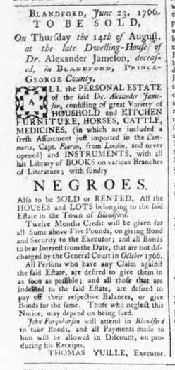Jul 20 - 7:18:1766 Rind's Virginia Gazette