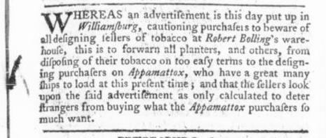 Jun 15 - 6:13:1766 response Virginia Gazette