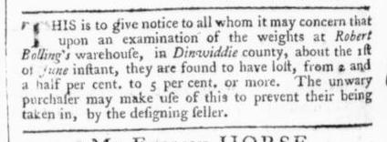 Jun 15 - 6:13:1766 Virginia Gazette