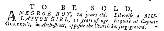Apr 2 - Pennsylvania Gazette Supplement Slavery 3