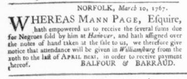 Mar 26 - Virginia Gazette Slavery 4
