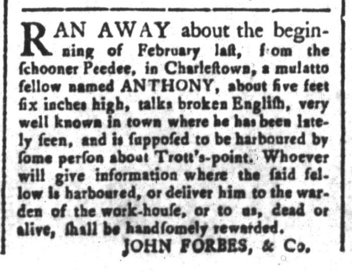 Mar 27 - South-Carolina and American General Gazette Slavery 7