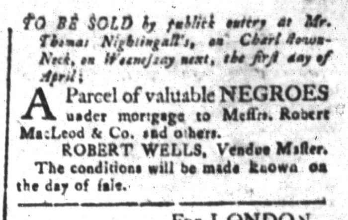 Mar 27 - South-Carolina and American General Gazette Slavery 9