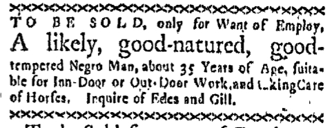 Mar 30 - Boston-Gazette Slavery 1