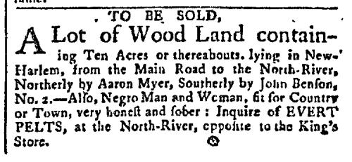 Mar 30 - New-York Gazette Slavery 1
