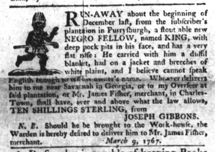 Mar 31 - South-Carolina Gazette and Country Journal Supplement Slavery 9