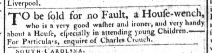 Apr 14 - South-Carolina Gazette and Country Journal Slavery 2
