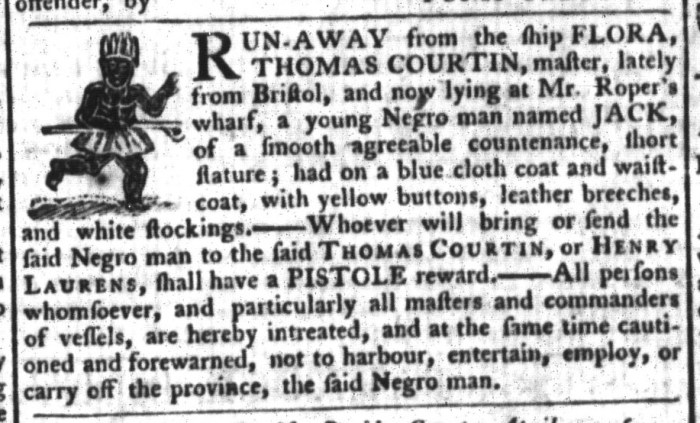 Apr 14 - South-Carolina Gazette and Country Journal Slavery 5