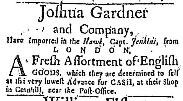 Apr 16 - 4:16:1767 Massachusetts Gazette