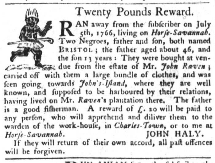 Apr 21 - South-Carolina Gazette and Country Journal Slavery 5