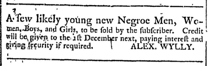 Apr 22 - Georgia Gazette Slavery 1