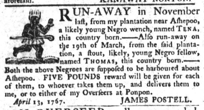 Apr 28 - South-Carolina Gazette and Country Journal Slavery 11