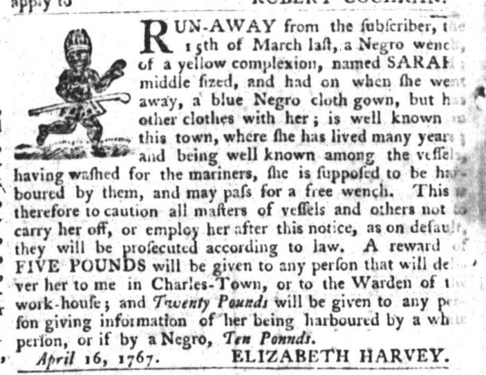 Apr 28 - South-Carolina Gazette and Country Journal Slavery 13