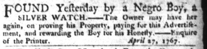 Apr 28 - South-Carolina Gazette and Country Journal Slavery 6