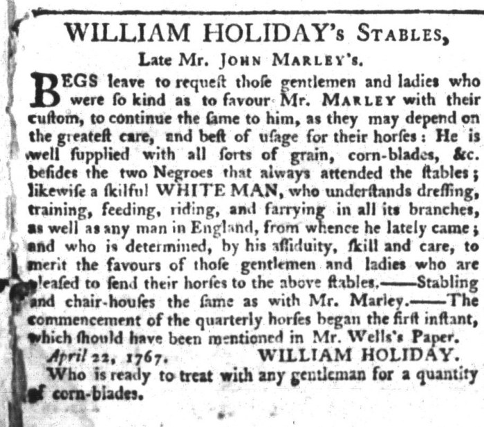 Apr 28 - South-Carolina Gazette and Country Journal Slavery