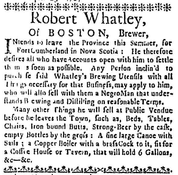 Apr 30 - Boston News-Letter Slavery 1
