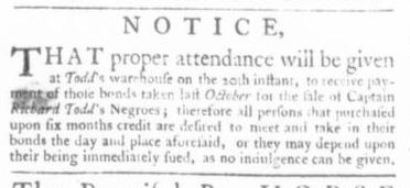 Apr 9 - Virginia Gazette Slavery 1