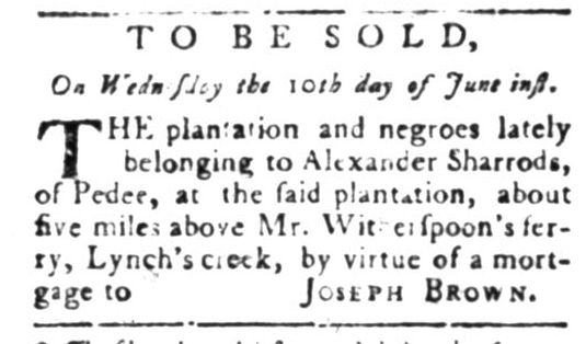 Jun 1 - South Carolina Gazette Slavery 2