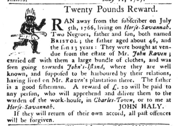 Jun 9 - South-Carolina Gazette and Country Journal Supplement Slavery 2