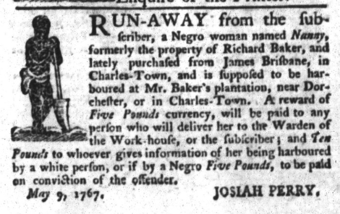 May 12 - South-Carolina Gazette and Country Journal Slavery 1