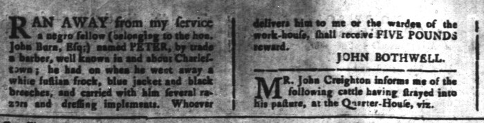 May 22 - South-Carolina and American General Gazette Slavery 11
