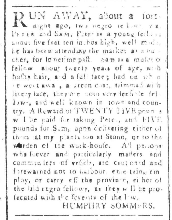 May 22 - South-Carolina and American General Gazette Slavery 2