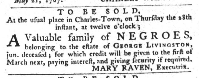 May 26 - South-Carolina Gazette and Country Journal Slavery 2
