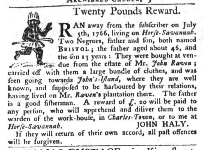 May 26 - South-Carolina Gazette and Country Journal Supplement Slavery 1