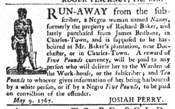 May 26 - South-Carolina Gazette and Country Journal Supplement Slavery 10