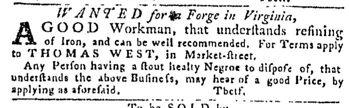 May 28 - Pennsylvania Gazette Slavery 1