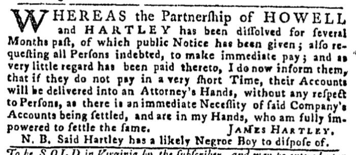 May 28 - Pennsylvania Gazette Slavery 3