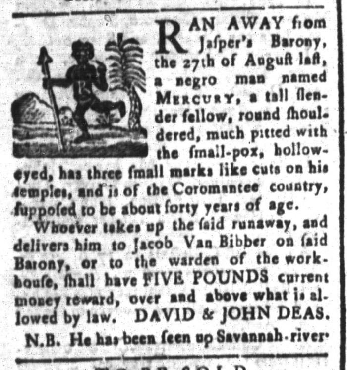 May 8 - South-Carolina and American General Gazette Slavery 4