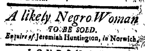 Jul 10 - New-London Gazette Slavery 1