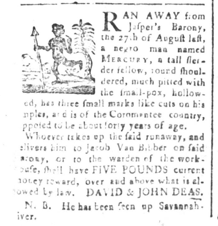 Jul 10 - South-Carolina and American General Gazette Slavery 4